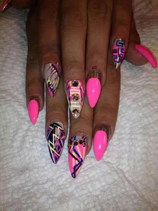 6 Ghetto Nail Designs Images