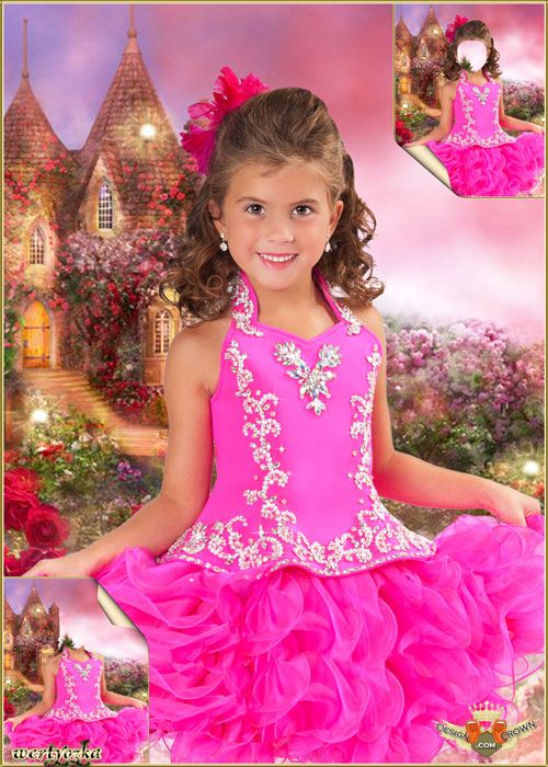 Girl Pink Dress Photoshop