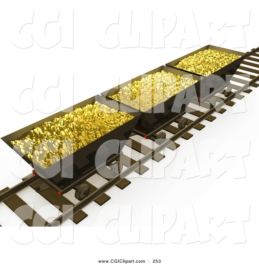Gold Mine Tracks Clip Art