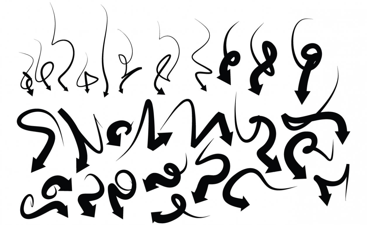 Graffiti Arrows Vector