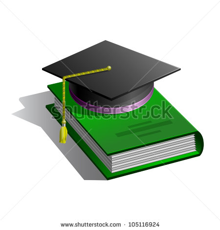 Green and White Graduation Cap