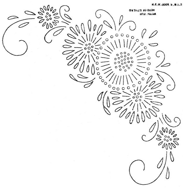 10 Emboidery Patterns Corner Design Images Down Syndrome