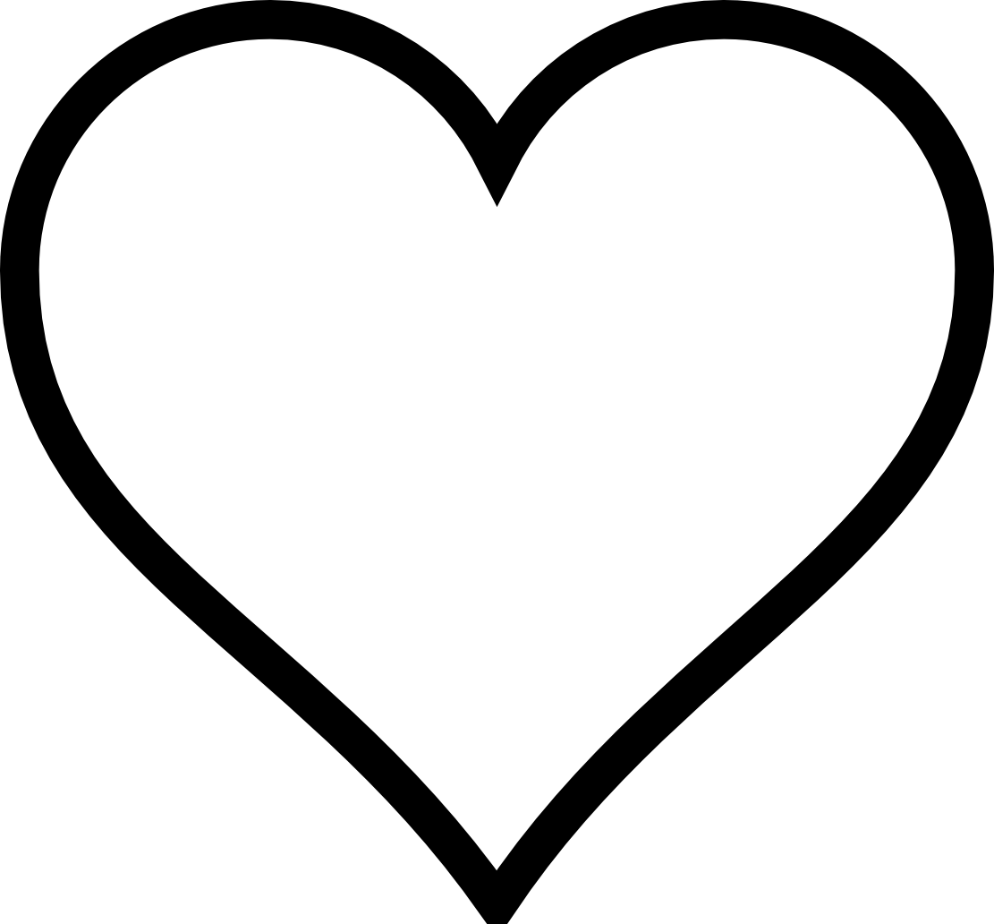 Line Art Heart Outline : Vector line art heart images black and white