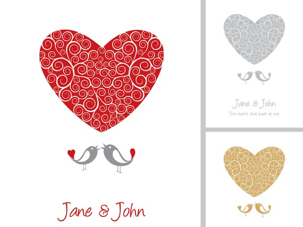 Heart Wedding Invitation Templates Free