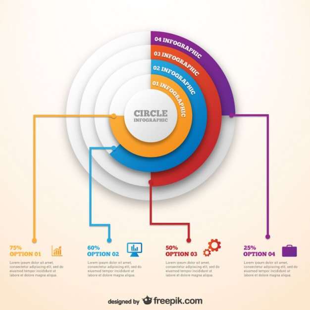 Infographic Circle Template Free