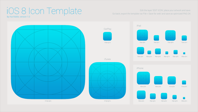 Android app icon template psd free design : 2018