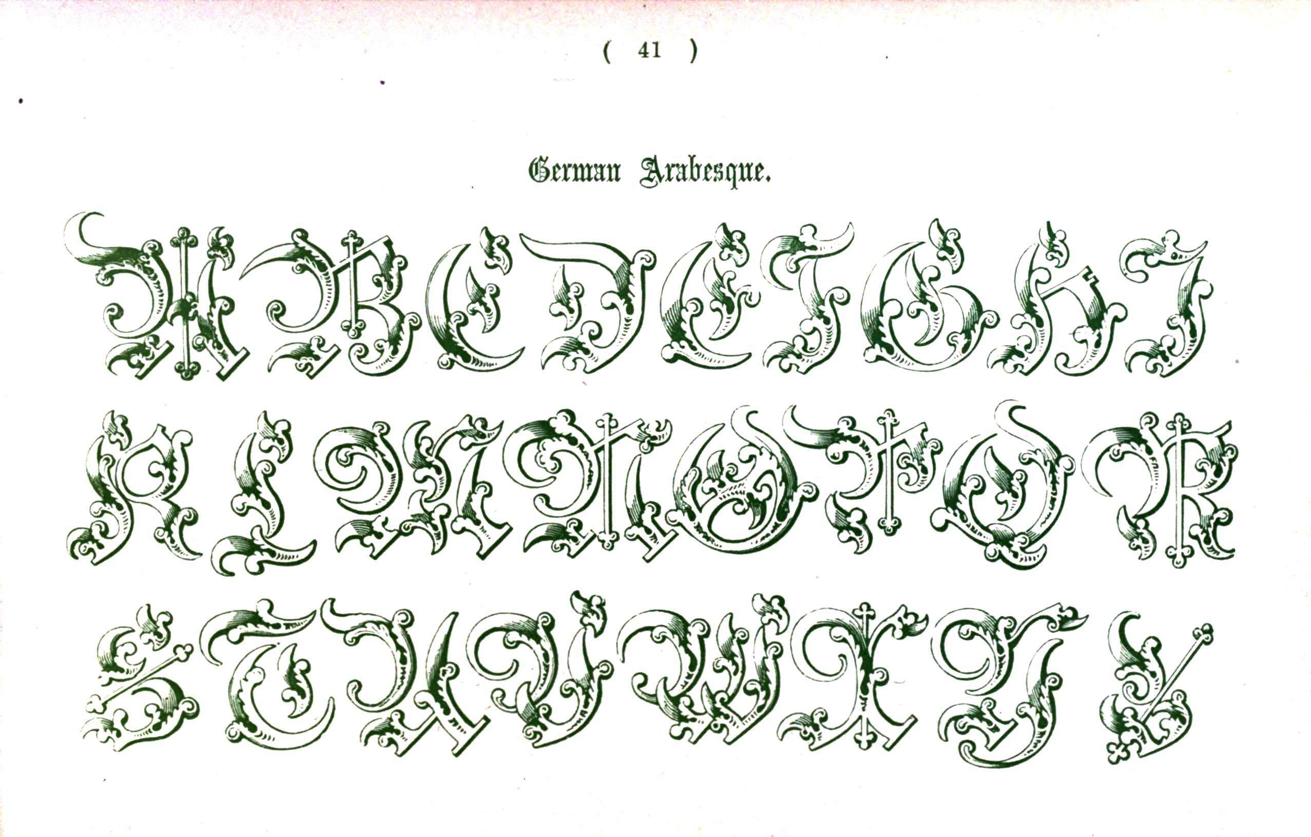 Medieval Font Alphabet Letters