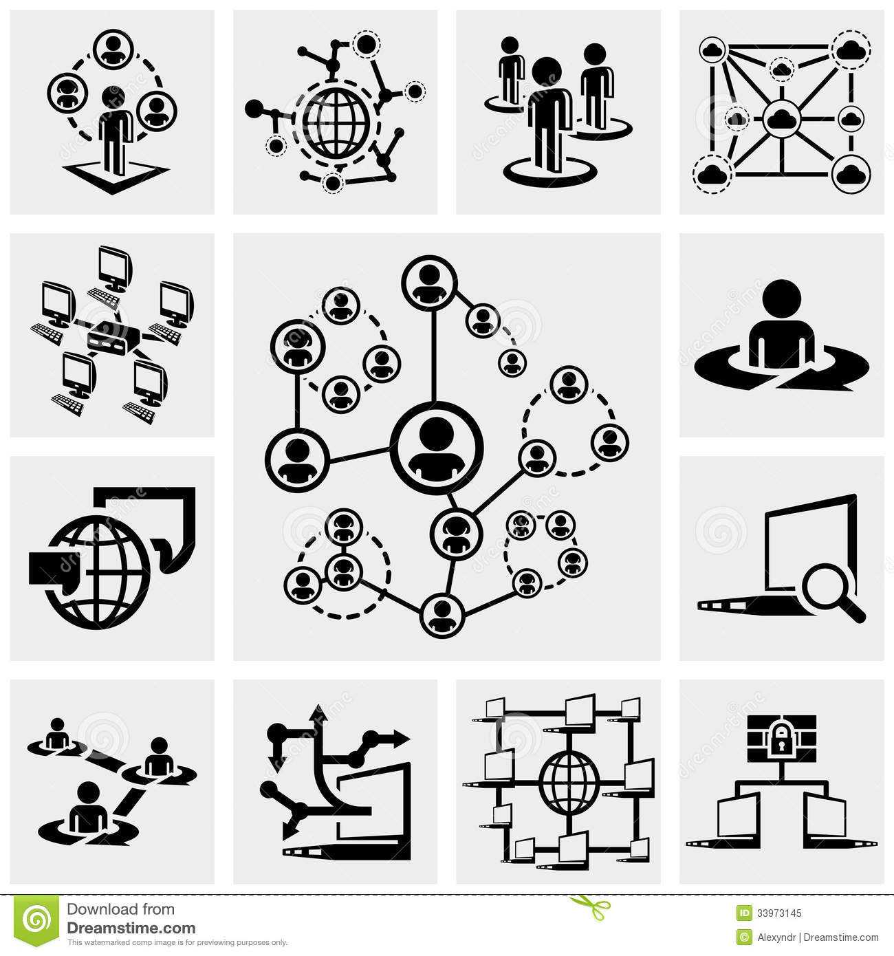 Network Icons Vector Free
