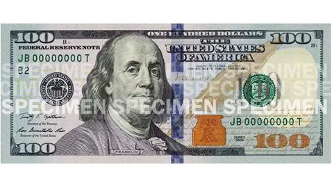 8 100 Dollar Bill Font Images