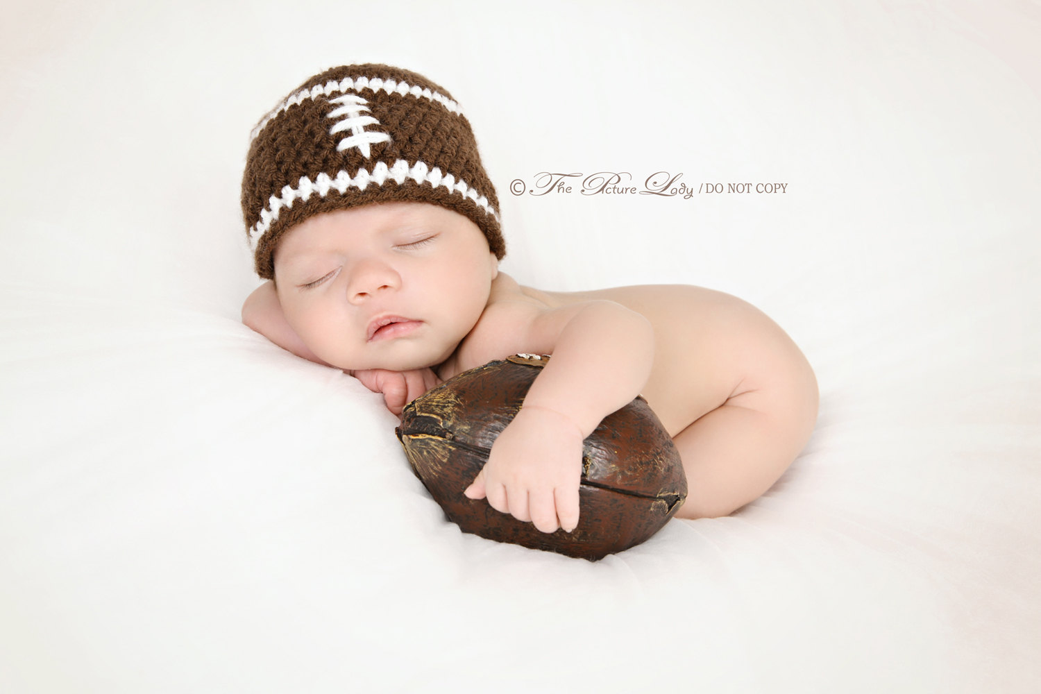 Newborn Baby Boy Football Photography