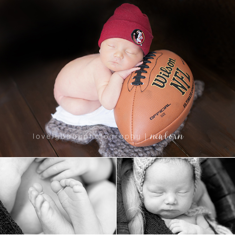 Newborn Baby Photography Football