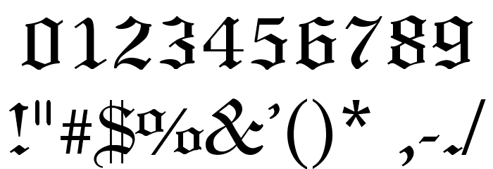 7 White Old English Number Fonts Images - Old English ...Old English Numbers