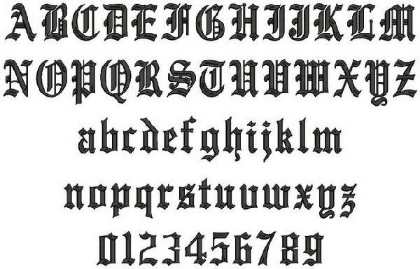 Old english type pictures to pin on pinterest pinsdaddy for Classic house number fonts