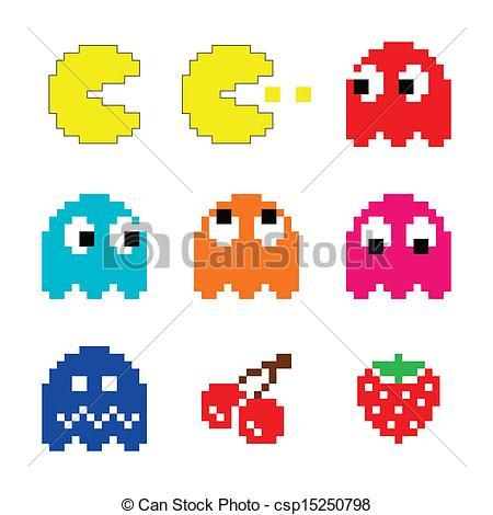 Original Pacman Ghost Clip Art
