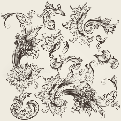 Ornament Swirl Vector Design