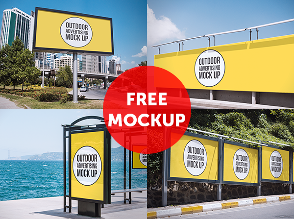 10 Outdoor Billboard Mockup Psd Free Images