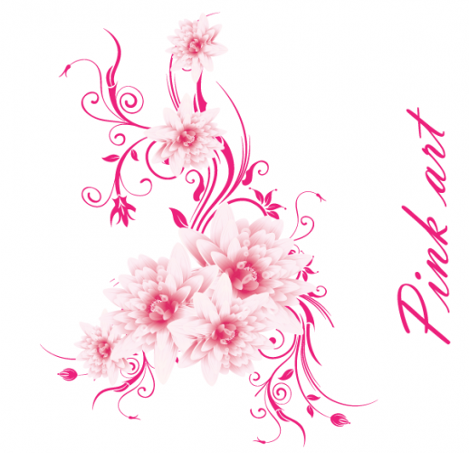 19 Pink Flower Vector Art Images