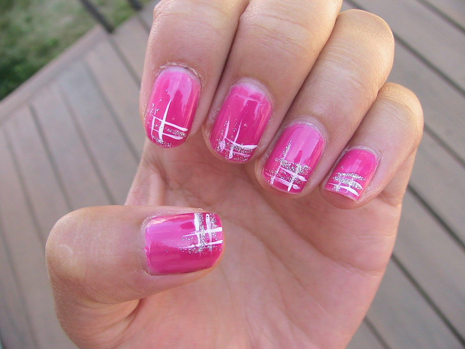 Pink Nail Art Design