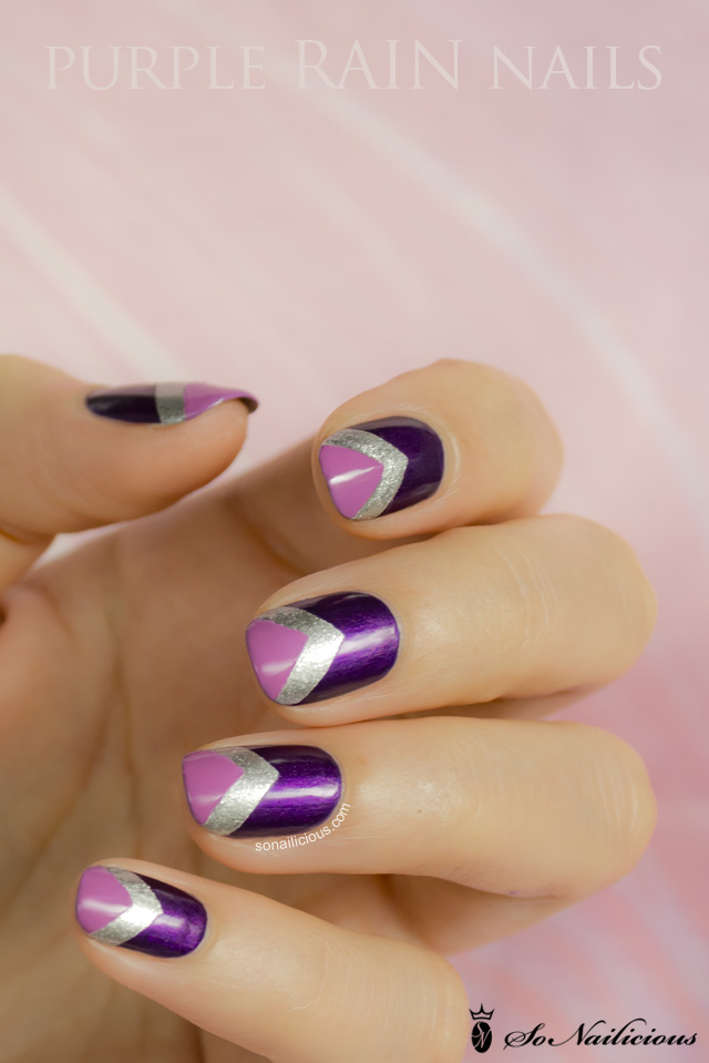 14 Purple Nail Designs For Short Nails Images