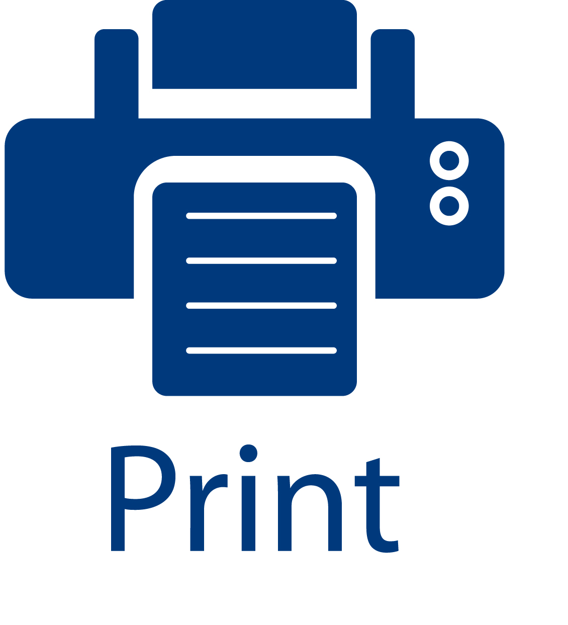 5 Print Button Icon Images