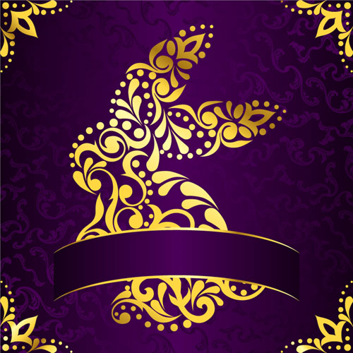 Purple and Gold Backgrounds Free