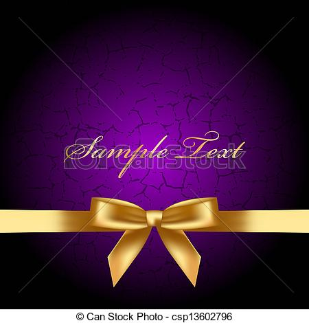 Purple and Gold Bow Background Free