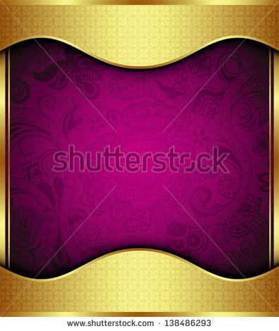 Purple and Gold Floral Background