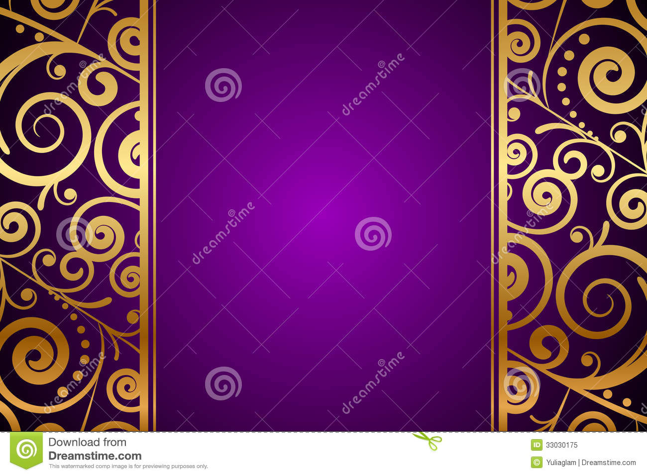 Purple and Gold Ornament