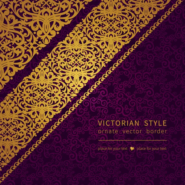 Purple and Gold Pattern Background Free