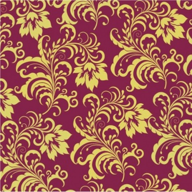 Purple and Gold Vintage Background Vector Free