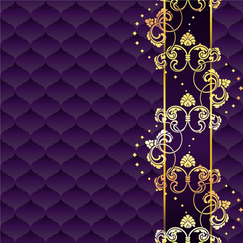 Royal Purple and Gold Background