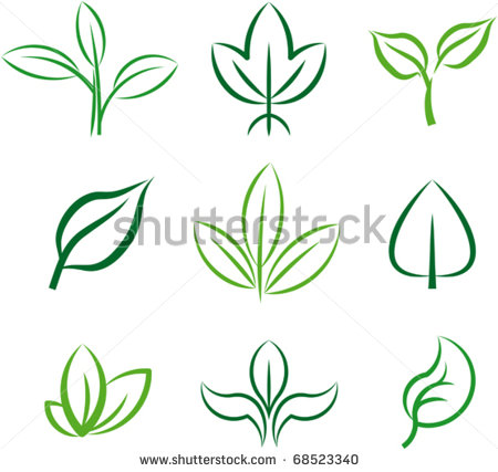 9 Leaves Vector Simple Images