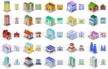 9 Brick Office Building Icon Images