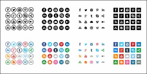17 social media icons free vector black images social for 51090 text