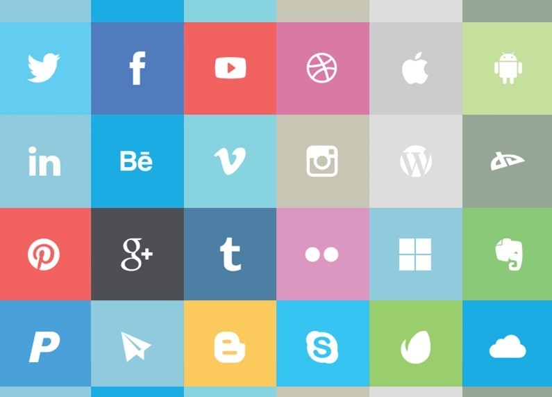 19 Flat Vector Social Media Logos Images