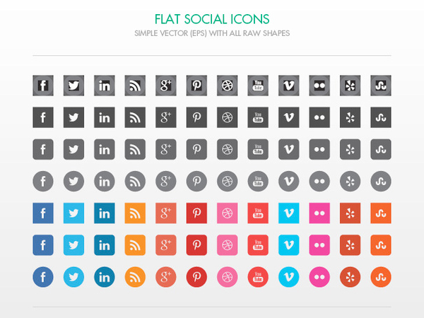 17 Social Media Icons Free Vector Black Images