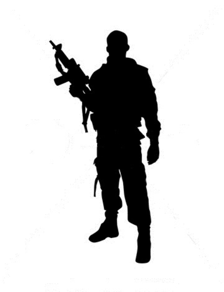 18 Warrior Silhouette Vector Images