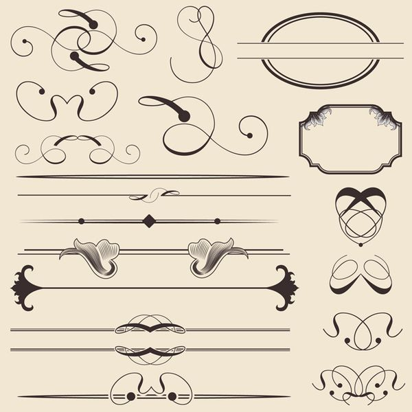 10 Simple Vector Ornament Cutouts Images