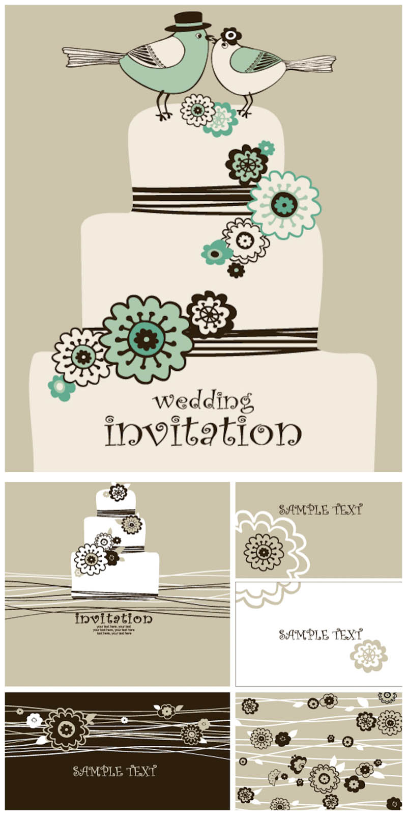 13 Vector Graphic Wedding Invitation Card Images
