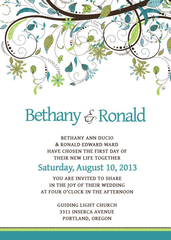 12 Wedding Invitation PSD Templates Images