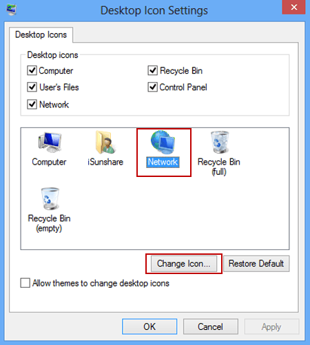 Windows 8 Network Desktop Icon