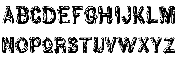 Wood Logs Fonts ~ Wood looking font images letter fonts that look like