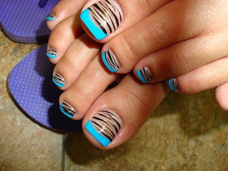 14 Easy Summer Toe Nail Designs Zebra Strapes Images