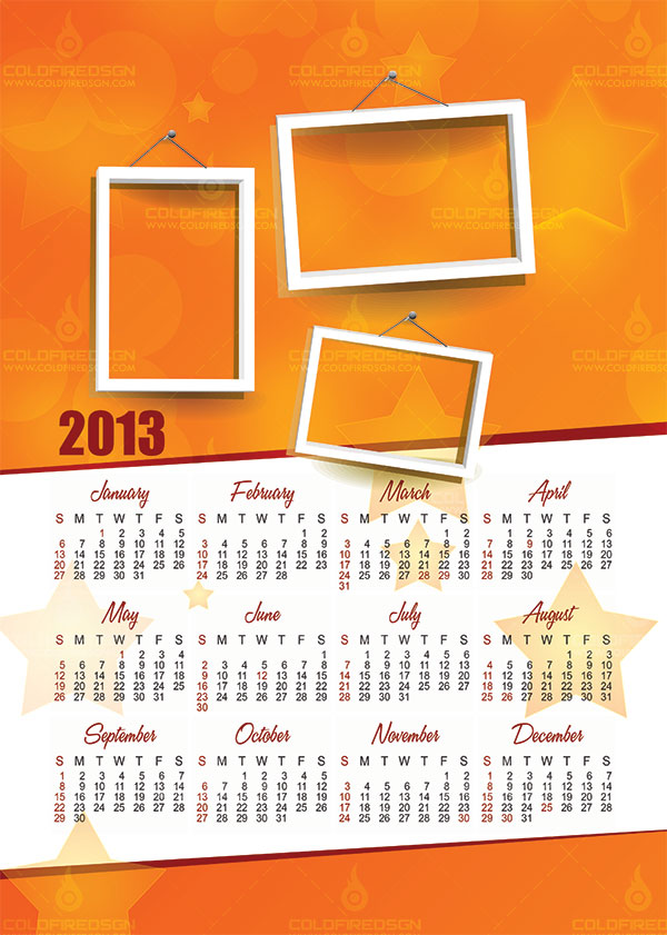7 2012 Calendar Template PSD Free Download Images