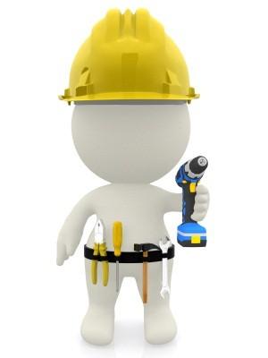 3D Construction Worker Clip Art