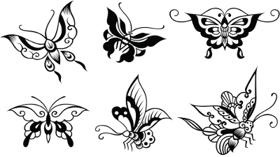 Abstract Butterfly Tattoo Designs