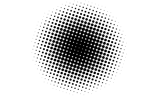 Line Art Vs Halftone : Circle dot vector images of dots free