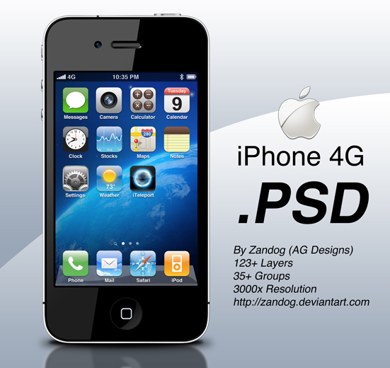13 IPhone PSD Files Images