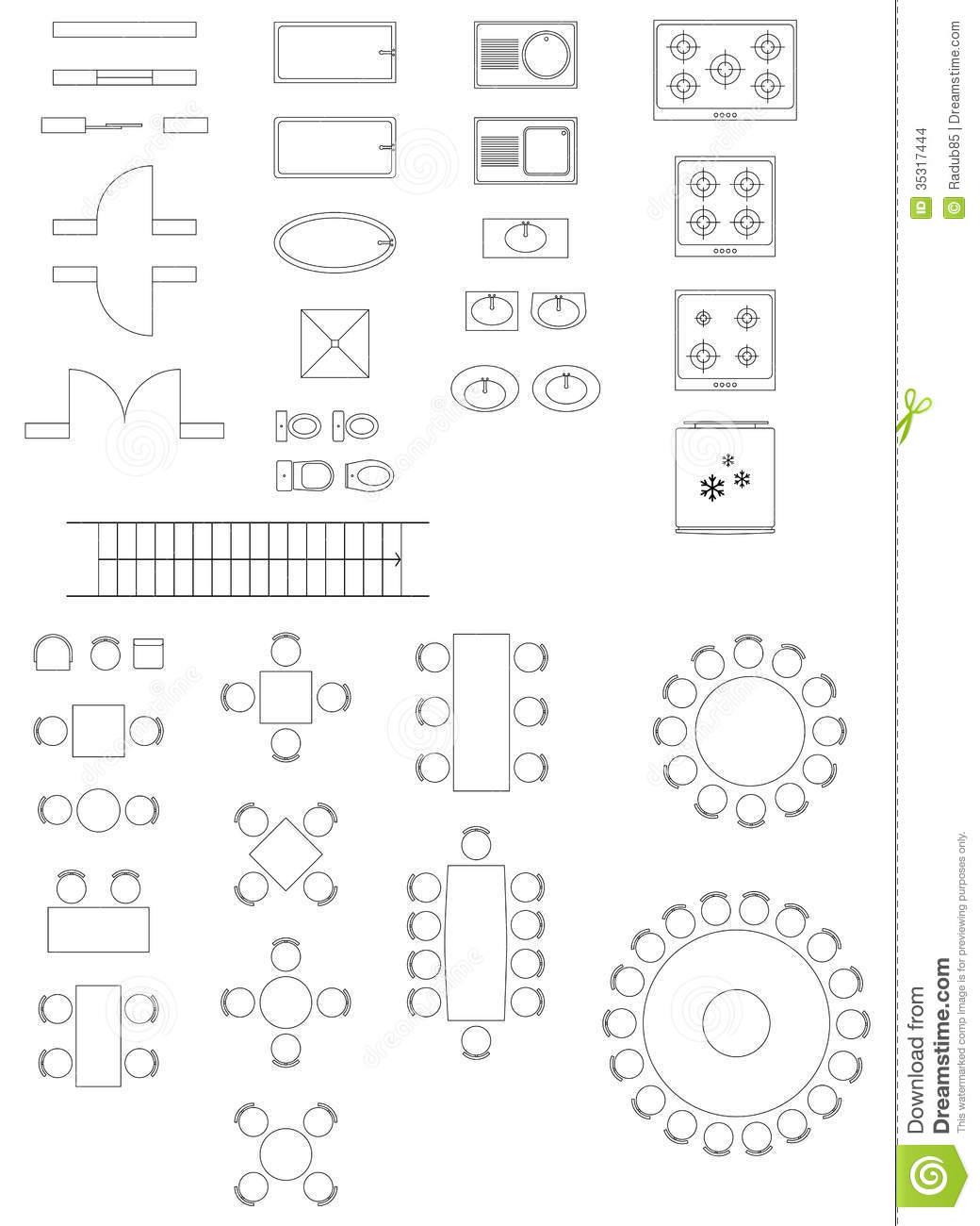 Architectural Floor Plan Symbols Clip Art