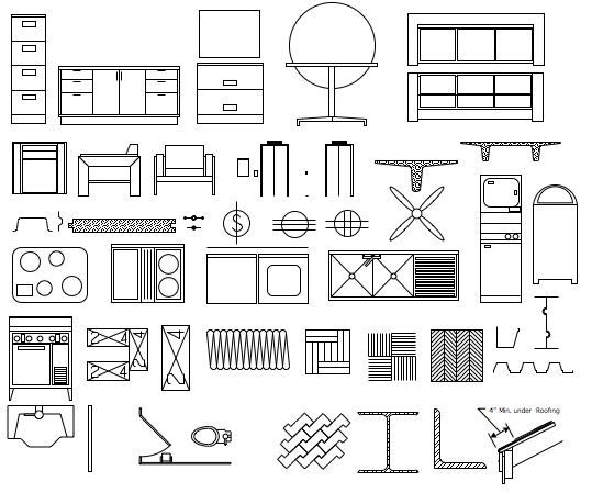 9 Architectural Icons Clip Art Images